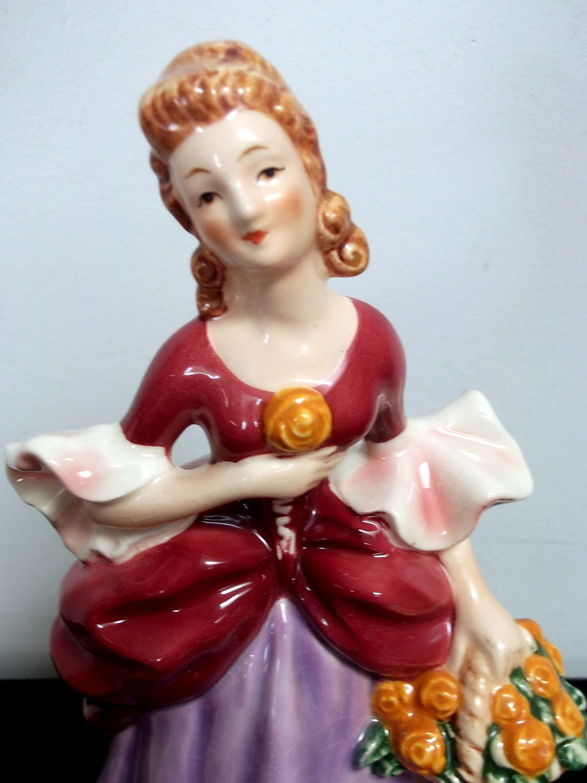 Goebel Germany Lady with Flower Basket Figurine