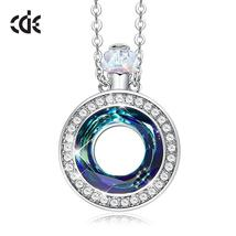CDE Embellished with crystals from Swarovski Necklace Pendant Perfume Bo... - $31.99