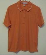 Womens NWT Hibiscus White Trim Short Sleeve Polo Shirt Size XL - $14.95