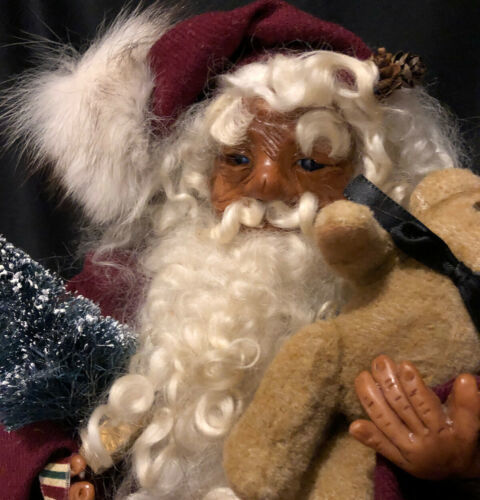 "Primary image for 15"" Rare HTF David McAfee MERRY MEN OF THE MOUNTAIN Sculpted Polimer Santa Claus"