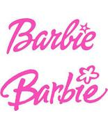 Barbie Lettering Logo Vinyl Decals Stickers - $6.99