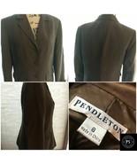 Women's Pendleton Size 8 Brown Suit Jacket Pockets Sleeves cuff Pad  SKU... - $13.49