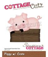 """CottageCutz Dies-Piggy W/Crate 2.5""""X2.2"""" - $20.68"""