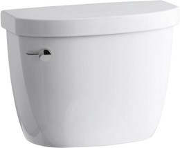 KOHLER Toilet Tank 1.28 GPF Single Flush Only Flushing Technology White - $95.39