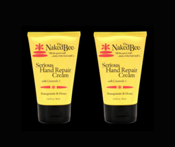 The Naked Bee Serious Hand Repair Cream 3.25 oz Pomegranate & Honey USA Lot of 2 - $21.77