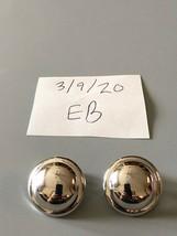 Vintage Silvertone Round Clip On Earrings - $14.84