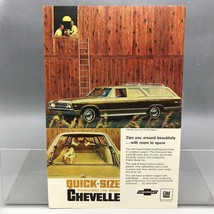 Vintage Magazine Ad Print Design Advertising Chevrolet Chevelle Station Wagon - $12.86