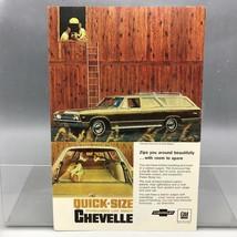Vintage Magazine Ad Print Design Advertising Chevrolet Chevelle Station Wagon - $34.60