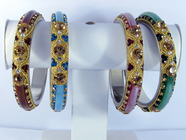 Primary image for Designer Crystal Bracelet Bangle Glass Fusion Large Size Indian Wedding jewelery