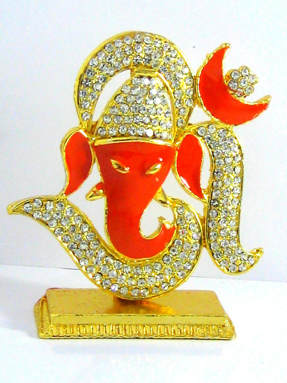 Primary image for Ganesha Crystal Idol Hindu Spiritual God, Remover of Obstacles  Made in India