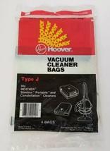 Vintage Genuine Hoover Type J Vacuum Cleaner Bags 4-Pack 1976 NEW FREE S... - $8.79
