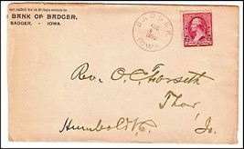 1890 Badger IA Vintage Post Office Postal Cover - $9.95