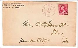 1890 Badger IA Vintage Post Office Postal Cover - $9.95