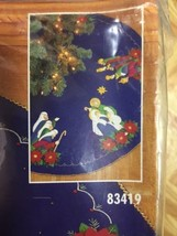 "Bucilla Nativity Scene Felt Applique Christmas Tree Skirt 43"" Round 83419 New  - $97.99"