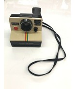 Vintage Polaroid OneStep White Rainbow Stripe Land Camera Used Parts repair - $28.04