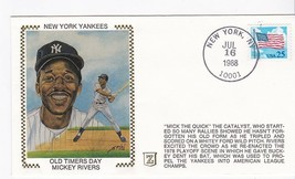 NEW YORK YANKEES OLD TIMERS DAY MICKEY RIVERS NEW YORK NY JUL 16 1988 Z ... - $2.68