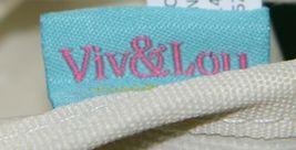 Viv and Lou M730VLMINT Sullivan Collection Canvas Mint Accents Tote image 4