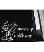 "Tinkerbell Fairy Girl Powered by ""Pixie Dust"" Car Truck Window Decal Sti... - $4.99"