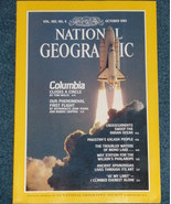 National Geographic  Magazine- Oct. 1981 --Space Shuttle Columbia Edition - $8.50