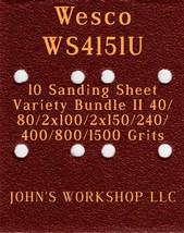 Wesco WS4151U - 40/80/100/150/240/400/800/1500 - 10pc Variety Bundle II - $12.46
