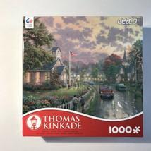 "Thomas Kinkade 1000 Piece Jigsaw Puzzle ""Morning Pledge"" 4M - $12.59"