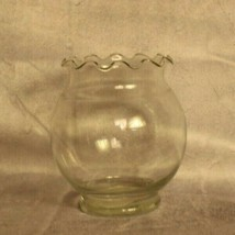 Anchor Hocking Fluted ivy clear glass bubble shaped  fish bowl vase home... - $8.15
