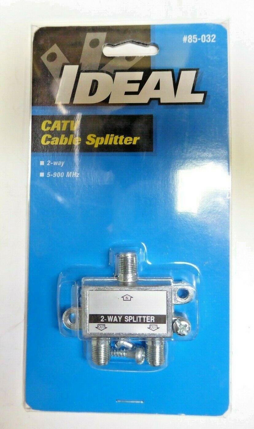 Ideal 85-032 CATV Cable Splitter 2 Way Splitter Pack of 6 New