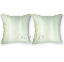 Set 2 Silk Throw Decorative Pillow Cases - CREAM - $13.99