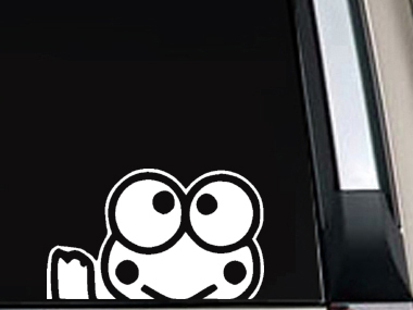 Sanrio KEROPPI Window Car Laptop Decal Sticker Hello Kitty