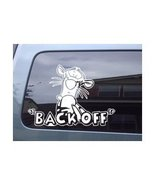 "Disney Winnie Pooh Tigger ""Back Off"" Car Window Truck Vinyl Decal Sticker  - $5.99"