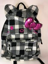Hello Kitty Loungefly Bookbag Backpack Sanrio 2012 Black & White - $14.03
