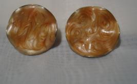 Avon Vintage Wavy Enamel Earrings 1980s - $9.99