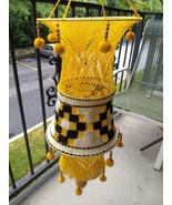 Vintage Boho Knit Hanging Decoration 70's Retro Like Macrame - $54.99