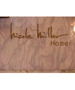 Nicole Miller Lavender Gray White Marble Cotton Sheet Set Full - $65.00