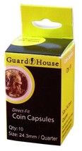 Guardhouse Quarter 24.3mm Direct Fit Coin Capsules, 10 pack - $6.79