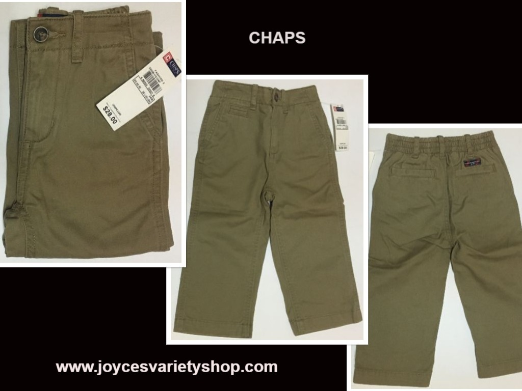 Primary image for Chaps Brown Khaki Pants Jeans SZ 24 Mo Toddler (28 1/2 - 30 LBS) NWT