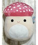 "Squishmallows Malcolm The Mushroom 16"" Inch Squishmallow Plush NWT - $139.00"