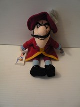 "Disney Captain Hook 10"" Disney Club Stuffed Plush Bean Bag Mint - $9.89"