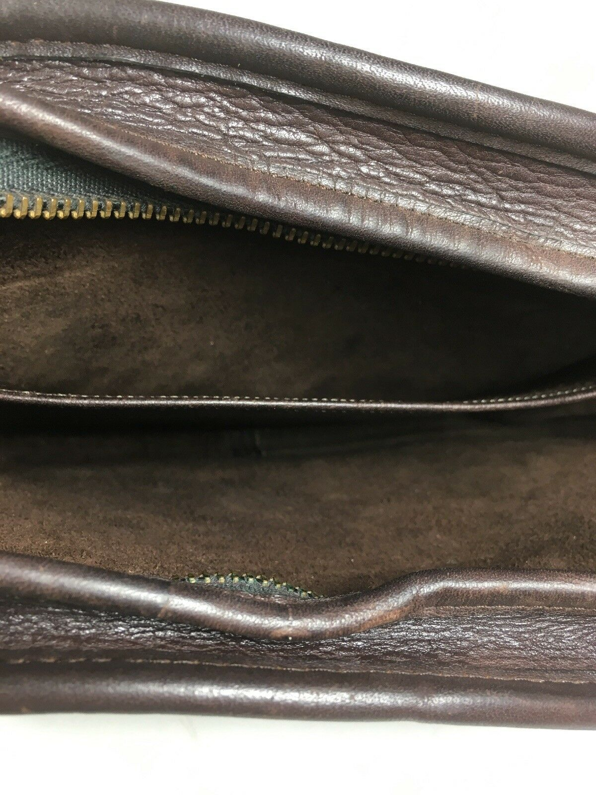 Coach Vintage Small Dark Brown Leather Shoulder Bag Made In New York City, USA