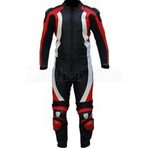 Black Red Biker Racing Leather Suit - $523.00