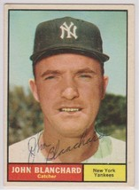 Johnny Blanchard (d. 2009) Signed Autographed 1961 Topps Baseball Card -... - $19.99