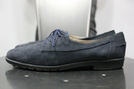 Salvatore Ferragamo boutique suede leather shoes 7.5 AA blue made in italy  - $40.00