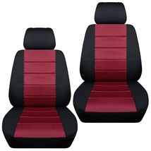 Front set car seat covers fits Chevy Spark  2013-2020   black and burgundy - $67.89+