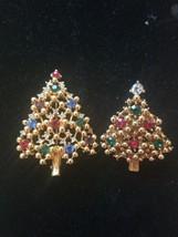 Vintage Eisenberg ICE Christmas Tree brooch and Lapel Pin Rhinestones  g... - $79.20
