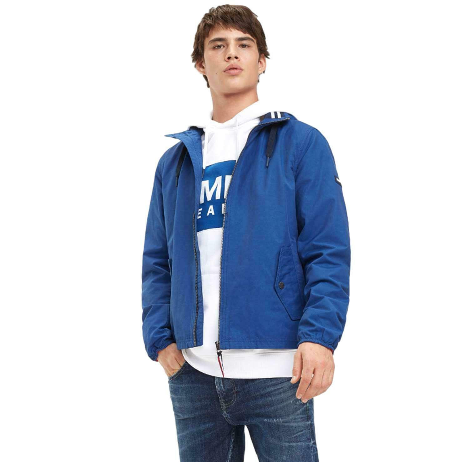 Primary image for Jacket Man Tommy Jeans Blue Hilfiger Denim Cotton Parka Hood Hoodied