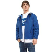 Jacket Man Tommy Jeans Blue Hilfiger Denim Cotton Parka Hood Hoodied - $121.79