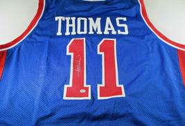 ISIAH THOMAS / NBA HALL OF FAME / AUTOGRAPHED DETROIT PISTONS CUSTOM JERSEY COA image 1
