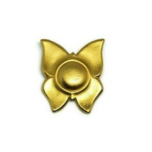 Liz Claiborne Butterfly Brooch Matte Gold Abstract - $12.00