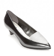 NEW ANNE KLEIN GRAY PATENT LEATHER PUMPS SIZE 8 M $80 - $31.34