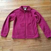 Columbia Magenta Pink Purple Zip Up Fleece Jacket Size Medium - $14.70